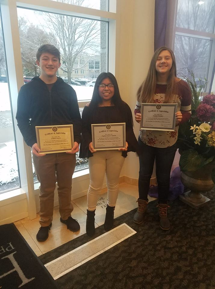 Students Honored at Rotary Youth Appreciation Breakfast